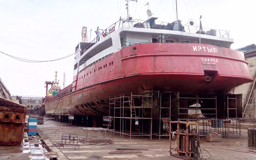 Гидроизоляция корабля в Севастополе 1