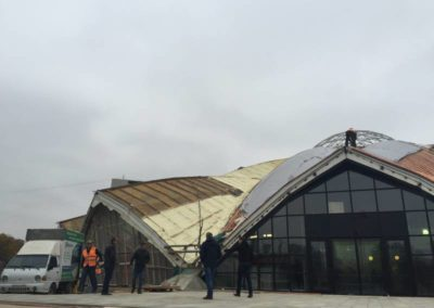 Теплоизоляция купола Даниловского рынка