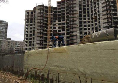 Теплоизоляция и гидроизоляция цокольного этажа (ЖК «Триумфальный») 1