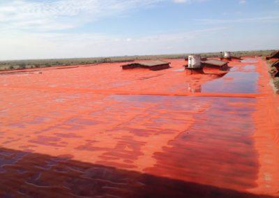 Теплоизоляция и гидроизоляция кровли (Коммерческий комплекс, г.Астрахань)