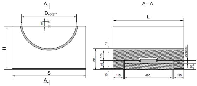 Опорные конструкции железобетонных трубопроводов тепловых сетей для канальной прокладки теплопроводов 8