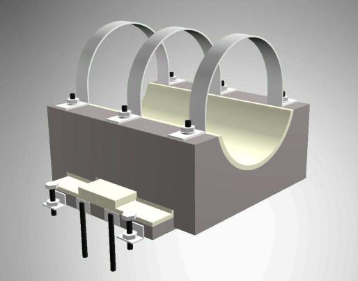Опорные конструкции железобетонных трубопроводов тепловых сетей для канальной прокладки теплопроводов 11
