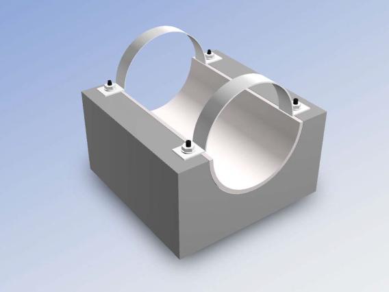 Опорные конструкции железобетонных трубопроводов тепловых сетей для канальной прокладки теплопроводов 14