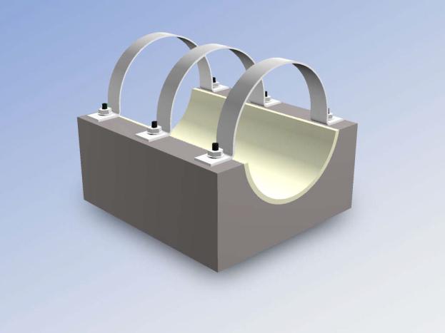 Опорные конструкции железобетонных трубопроводов тепловых сетей для канальной прокладки теплопроводов 18