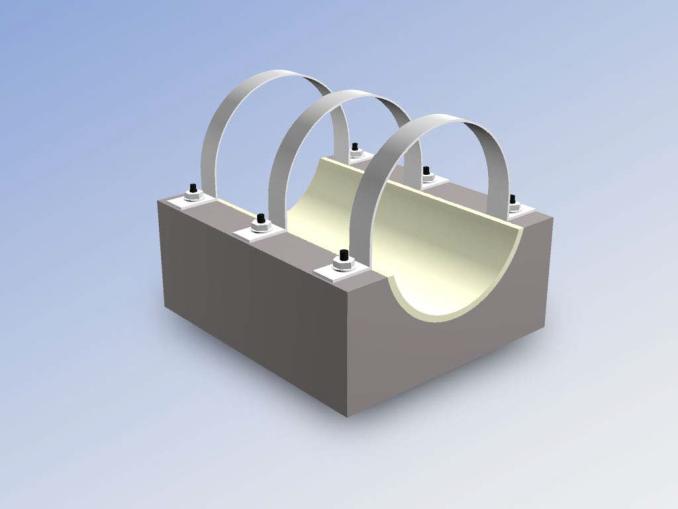 Опорные конструкции железобетонных трубопроводов тепловых сетей для канальной прокладки теплопроводов 23