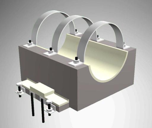 Опорные конструкции железобетонных трубопроводов тепловых сетей для канальной прокладки теплопроводов 6